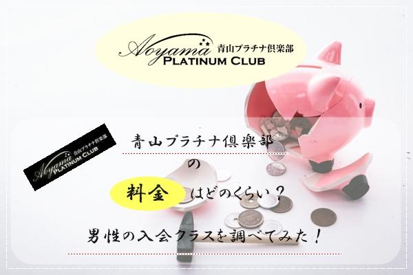 青山プラチナ倶楽部 料金 男性 入会金