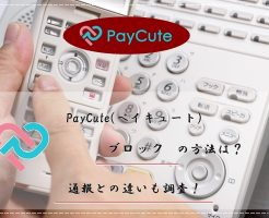 PayCute(ペイキュート) ブロック 通報