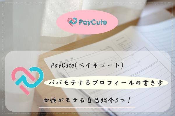 PayCute(ペイキュート) プロフィール 書き方 女性 自己紹介