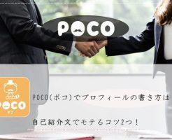 POCO(ポコ) プロフィール 書き方 自己紹介文